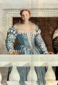 portrait in fresco of Giustiniana Giustiniani from Villa Barbaro, Maser, 1561, Veronese.