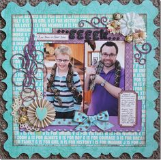 Layout by Wendy Smith  C1182 Chloe flourish