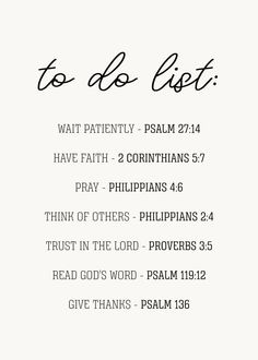 A True to do list!