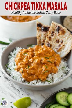 Indian Vegetarian Recipes 94772 Enjoy authentic Indian flavors in this Healthy Chickpea Tikka Masala. Simple and easy vegetarian tikka masala recipe for a weeknight meal or to serve in a party. Chicken Tikka Masala Rezept, Paneer Tikka, Vegan Tikka Masala, Vegetable Tikka Masala, Tika Masala, Plat Vegan, Comida Keto, Cooking Recipes, Healthy Recipes