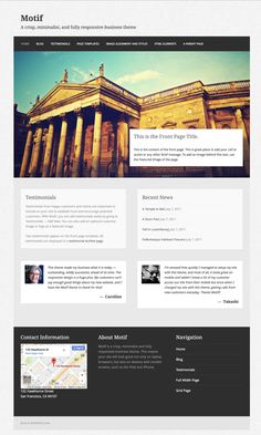 Motif is a crisp, minimalist, and fully responsive business theme.