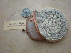 vintage crochet   Porte monnaie vintage au crochet