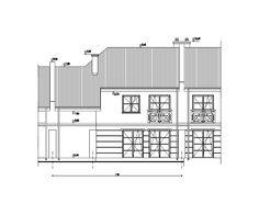 Projekt domu jednorodzinnego MAKI82HP (widok z drugiej strony). Dom według projektu można zamówić w Spółdzielni Mieszkaniowej Bielany (www.smbmaki.pl).