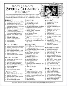 Spring Cleaning Checklist  Free Printable  Cleaning Checklist