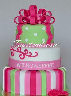 leuke vrolijke taart...