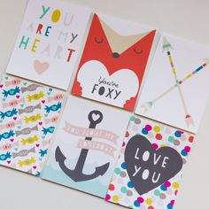"3""x 4"" Printable Valentine Notes by Studio Pebbles via Etsy. // perfect size for project life filler cards"