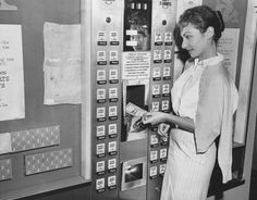 Here's a Macy's vending machine that sold men's shorts for only 97 cents! | 15 Weird Vending Machines Of The '60s