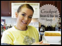 In the Kitchen w/ Kisha: Crockpot Bean & Bacon Soup { Video } ~ The Glamorous French Housewife