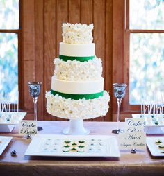 emerald wedding  |  christi falls photography I am so in love with this cake