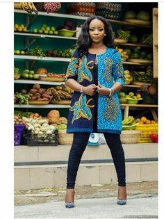 Ankara Jacket, African Print Jacket, Stylish Ankara Jacket - New Ideas African Print Dresses, African Print Fashion, Africa Fashion, African Wear, African Attire, African Fashion Dresses, Ethnic Fashion, African Women, African Dress