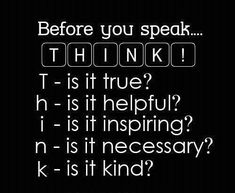 THINK! Gotta start doing this.