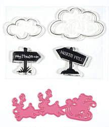 Sleigh Cutting Die, & 4 stamps by Ecstasy Crafts (4007437)