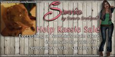 Hai everyone!  I am holding a sale with everything* at Somnia's main store is 50% off. This sale is to help me raise funds so I can get my dog the surgery she needs to repair her knee. I also have started a Go Fund me the link is below. Anything you can do to help out from passing on about the sale, go fund me, donating by shopping or even $1 helps greatly.   www.gofundme.com/KassiesKnee  *not including marketplace, gift cards or current event items.