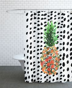Pineapple as Shower Curtain by Amy Sia | JUNIQE