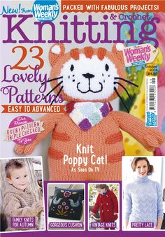 This month's issue of Knitting & Crochet from Woman's Weekly is out now. With 23 lovely patterns from easy to advanced inside.