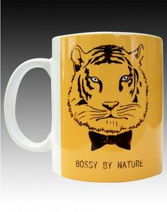 Show em who is the boss by wearing the bossiest t-shirt ever #chimp #chimpwear #design #mugs #coolmugs #quirky #india #coffee #BossyByNature