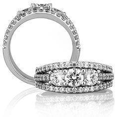 Enchanting! A. Jaffe Engagement / Wedding Ring WR0790 / 169 for about $6,410