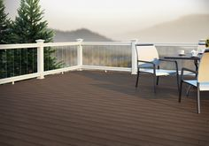 Deckorators Heritage composite decking in Barrel-aged Oak. With unique variegation and an enhanced grain pattern, Deckorators Heritage composite decking provides a one-of-a-kind look for composite decking.
