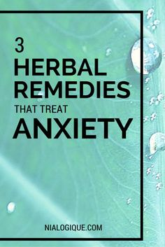 herbal remedies, anx