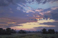 Sunset by Bruce Peil Oil ~ 30 x 40