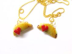 It's like taco Tuesday for your neck. We own seven of these. - Handmade item - Material: polymer clay - Ships worldwide from Carmel, California Return and Exchanges Policy Shipping Specifications - Sh