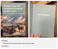 This card that shows that even in the festive season you can be passive aggressive.