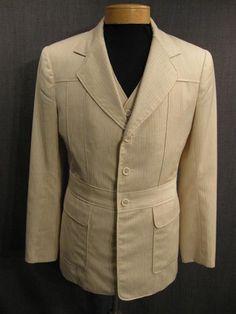 Norfolk Suit Mens 3pc 1912 cream grey wool