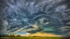 Wonderful Wyoming - Amazing and wonderful cloud structure in this Wyoming supercell thunderstorm