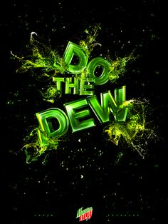The Mountain Dew as an example of inspirational typography example in print ads Creative Typography Design, Typography Fonts, Lettering, Web Inspiration, Typography Inspiration, Type Treatments, Iphone Design, Mountain Dew, Green Mountain