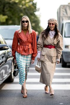 On the street at Milan Fashion Week. Photo: Imaxtree