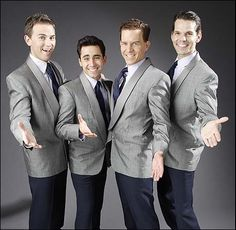 The original cast of Broadway's Jersey Boys, which took home the TONY for Best Musical in 2006. Pictured are its stars, Daniel Reichard, John Lloyd Young, Christian Hoff and J. Robert Spencer.