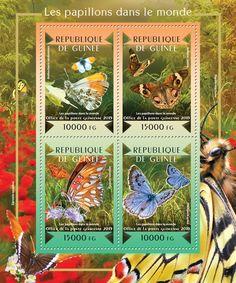 Post stamp Guinea-Bissau GU 15102 aButterflies of the World (Anthocharis cardamines, {…}, Phengaris arion)