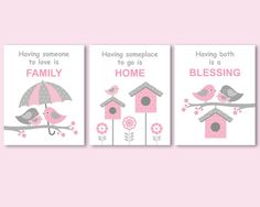 Hey, I found this really awesome Etsy listing at https://www.etsy.com/listing/175146588/pink-and-grey-set-of-3-prints-posters