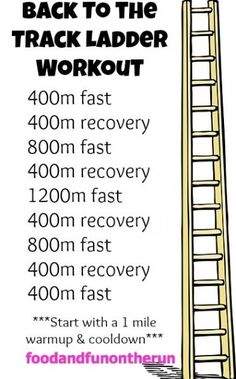 Back to the track ladder workout