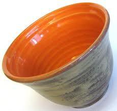 Love the orange glaze   pottery
