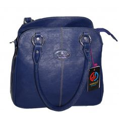 Pure Leather Women s Hand Bag (Blue)(BW013HBB)