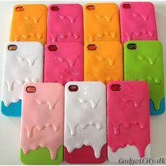 iPhone 4 / 4S Icecream Melt Cover. Lækkert icecream melt iPhone 4 cover / iPhone 4S cover i hård plastic. Meget charmerende design, der får os til at mindes de sommerdage, hvor sorbetisen smeltede i solen. Meget solidt iPhone cover. Passer til iPhone 4 og iPhone 4S. Vælg mellem elleve flotte farver