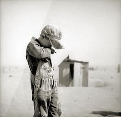 photo by rothstein of dust | Dust is too much for this farmer's son in Cimarron County, Oklahoma ...