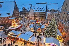 Weihnachtsmarkt in Hildesheim, Germany