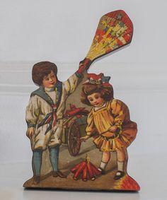 Another great find on #zulily! Children Firecracker Vintage Cutout #zulilyfinds 7.99