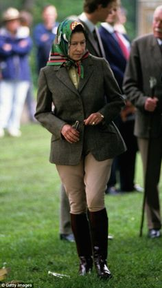 Queen Elizabeth ll wore the riding gear as she visited the Royal Windsor Horse Show in May...
