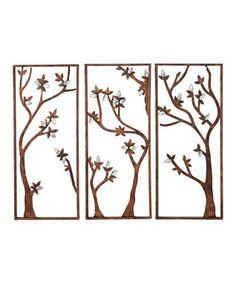Tri-Panel Tree Wall Art