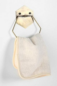 Shop Hexagon Towel Ring at Urban Outfitters today. We carry all the latest styles, colors and brands for you to choose from right here. Toilet Accessories, Home Accessories, Interior Simple, Interior Design, Interior Ideas, Urban Outfitters Home, Towel Rings, Ring Crafts, Bathroom Towels