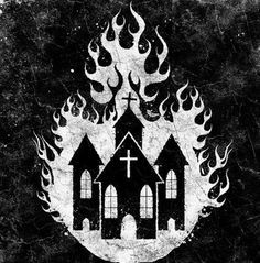 burning church drawing - Google Search