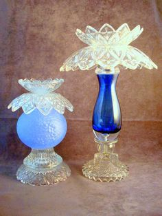 Glass garden art or candle holder made with by ReCreationsInGlass, $47.00