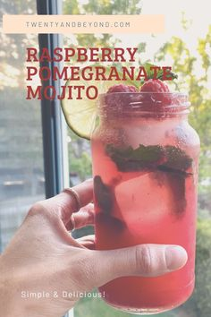 Easy and Delicious Raspberry Pomegranate Mojito Recipe Gin Cocktail Recipes, Mojito Cocktail, Cocktail Club, Easy Cocktails, Pomegranate Mojito, Just Fresh, Mojito Recipe, Different Recipes, Summer Drinks