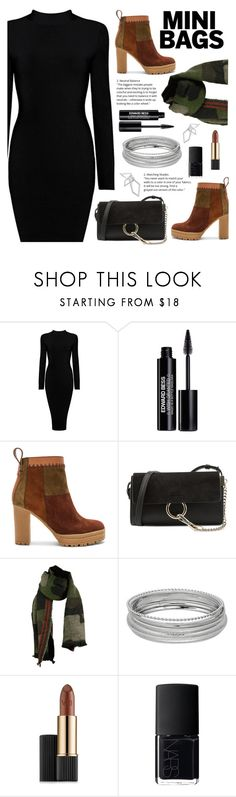 """All About The Bag"" by arrow1067 ❤ liked on Polyvore featuring Edward Bess, See by Chloé, Chloé, Estée Lauder, NARS Cosmetics, W. Britt and minibags"