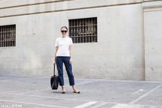 Trini | The Row t-shirt Levis jeans