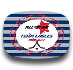 PLATTER Hockey Dish Team Plate Childrens by TheSportzyCupboard