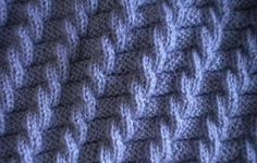 Free Knitting Patterns - Cable Knit Pattern without cable needle Knitting Stiches, Cable Knitting, Knitting Videos, Knitting Patterns Free, Knitting Yarn, Knit Patterns, Free Knitting, Stitch Patterns, Cable Needle